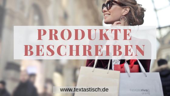 Produktbeschreibung erstellen