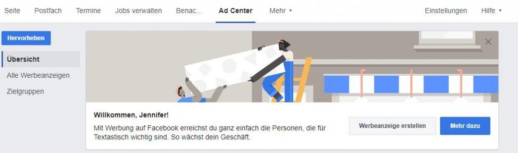 Facebook-Ads verwalten