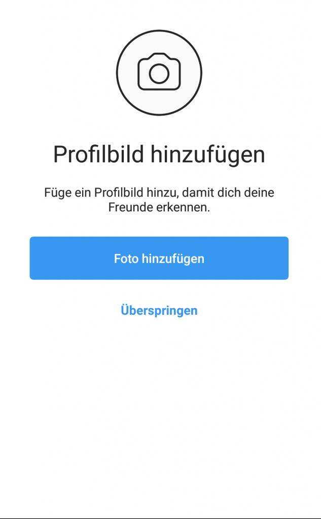 Instagram-Seite erstellen / Profilbild