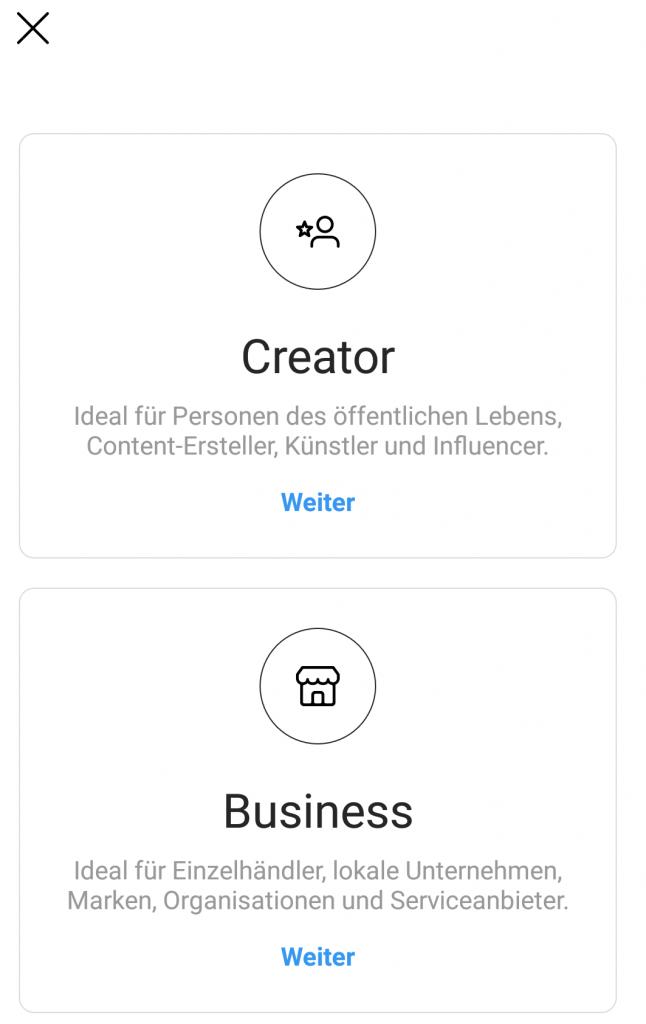 Instagram als Business oder Creator nutzen