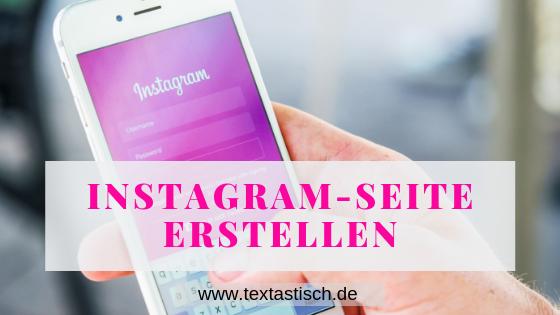 Instagram-Seite erstellen