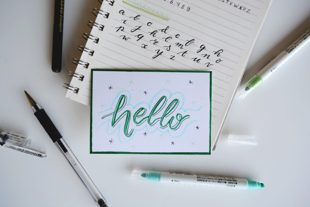 Begrüßung Text schreiben