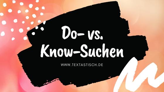 Shop-Texte: Do- vs. Know-Suchen