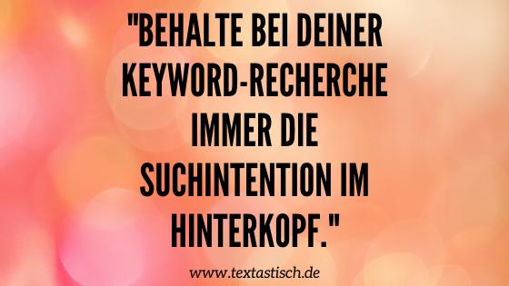 Shop-Texte: Keyword-Recherche und Suchintention