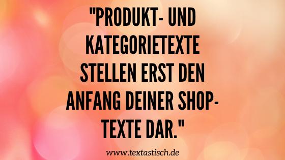 Produkttexte und Kategorietexte