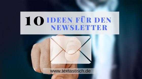 Newsletter-Ideen
