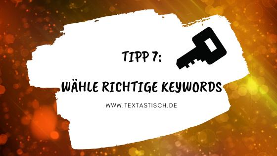 Keywords richtig auswählen und Absprungrate reduzieren