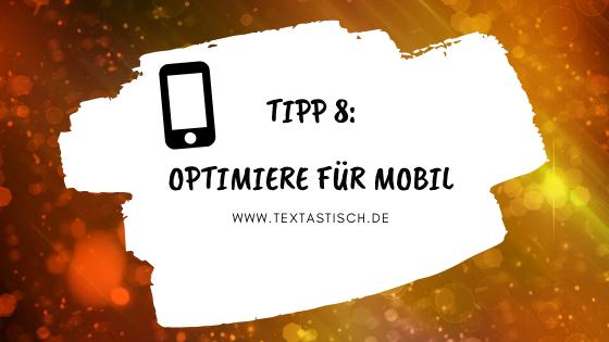 Seite für mobil optimieren, Absprungrate reduzieren