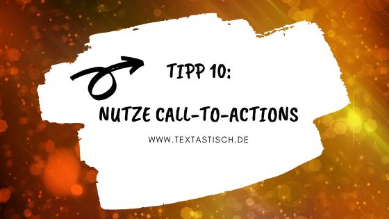 Call-to-Actions nutzen bei der Texterstellung