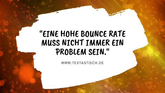 hohe Bounce Rate ein Problem