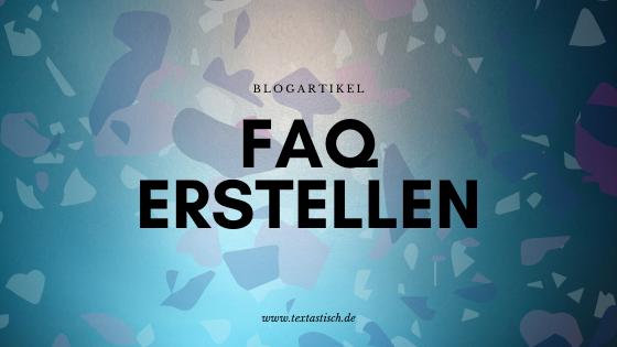 FAQ erstellen