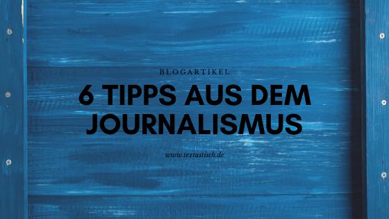 von Journalisten lernen