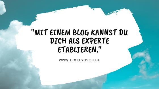 Experte mit bloggen