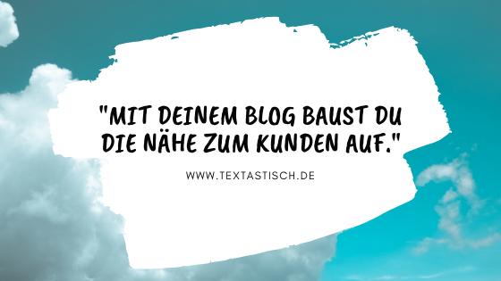 Bloggen lohnt sich für die Kundennähe