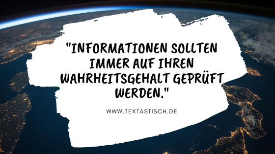 Informationen Wahrheitsgehalt