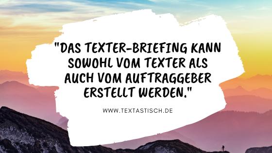 Texter oder Auftraggeber Texterstellung