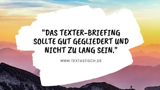 Länge Texter-Briefing