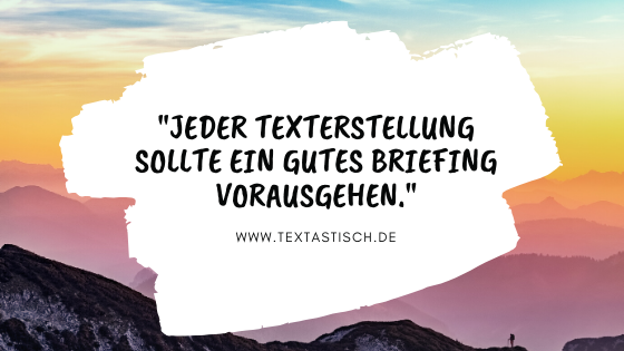 Texterstellung Briefing