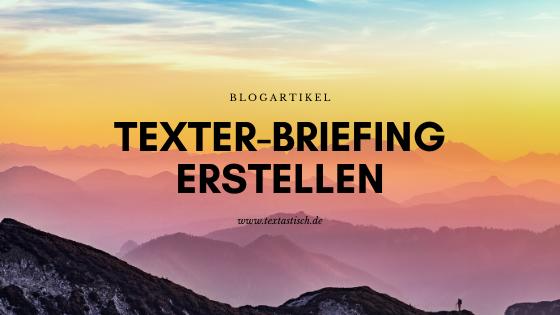 Texter-Briefing-Vorlage erstellen
