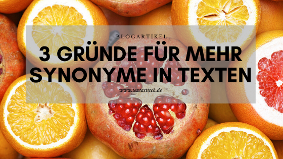 Synonyme in Texten