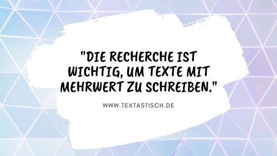 Recherche und Texterstellung