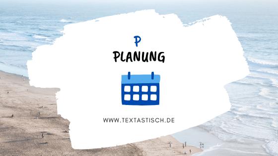 Planung mit einem Redaktionsplan