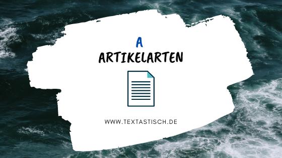 Textarten im Content-Marketing