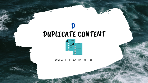 Duplicate Content vermeiden
