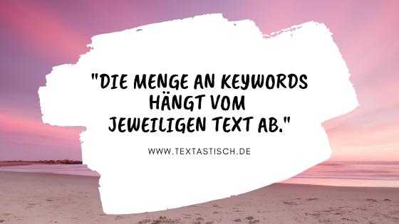 Keywords pro Seite