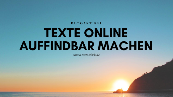 Text online auffindbar machen