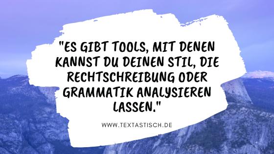 Textprüfung mit Tool