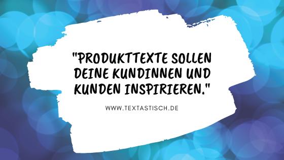 Produktbeschreibung für den Onlineshop erstellen