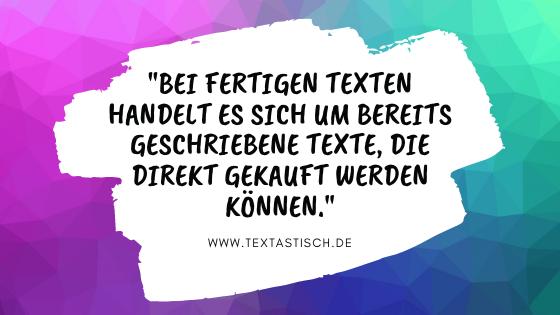 Fertige Texte kaufen – was bedeutet das?