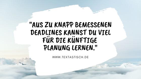 Content planen und schreiben Zeitplanung