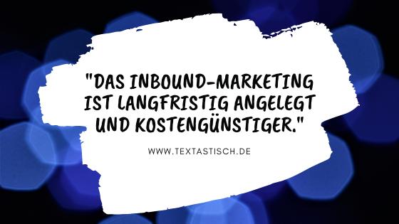 Inbound-Marketing Vorteile