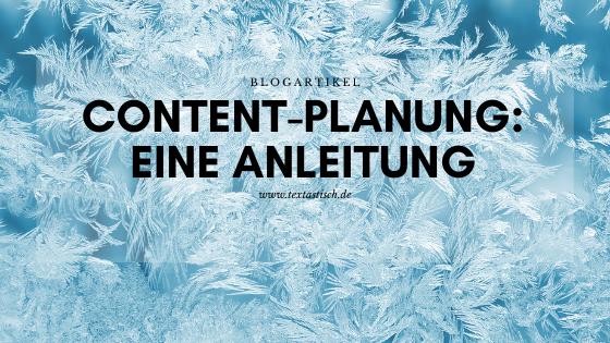 Content-Planung Anleitung Schritt für Schritt
