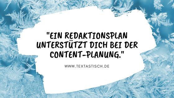 Redaktionsplan für die Content-Planung im Content-Marketing