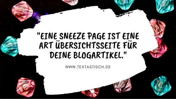 Sneeze Page Blogartikel Übersicht