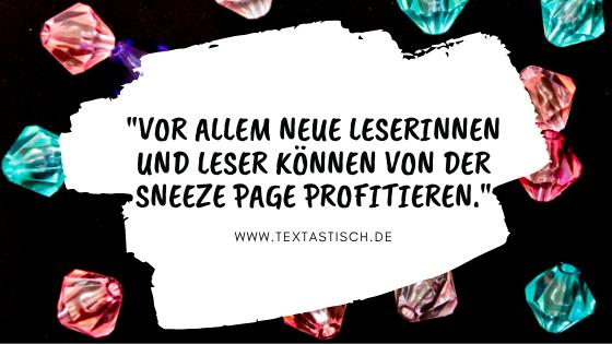 Sneeze Page Blog Leserinnen und Leser