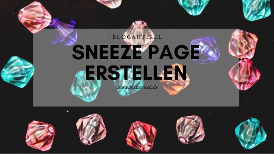 Sneeze Page erstellen