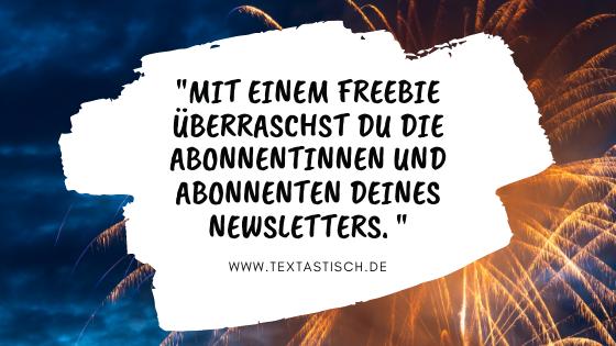 Freebie erstellen Newsletter