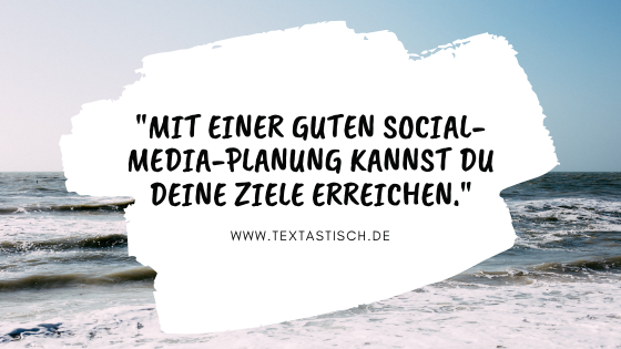 Social-Media-Planung Redaktionsplan Content-Plan