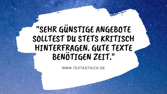 Website-Texte Preise Texterstellung