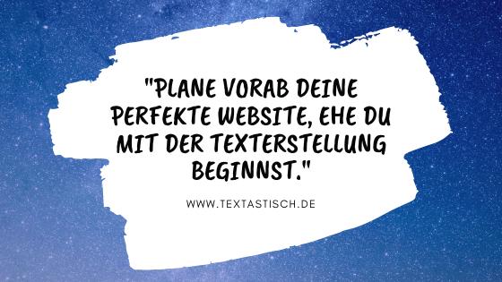 Planung Website-Texte