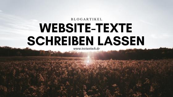 Website-Texte schreiben lassen